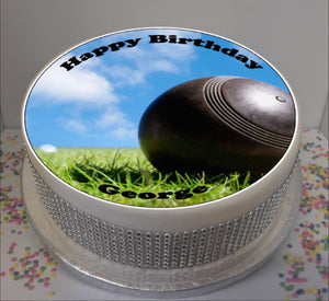 "Personalised Bowls / Bowling Scene 8"" Icing Sheet Cake Topper"
