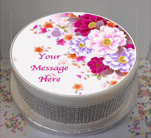 Personalised Bright Floral Scene 8