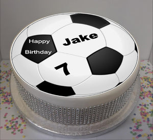 "Personalised Football 8"" Icing Sheet Cake Topper"