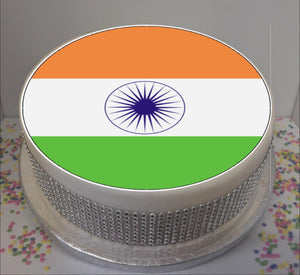 "Flag of India  8"" Icing Sheet Cake Topper"