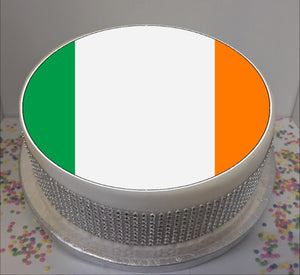 "Flag of Ireland (ROI)  8"" Icing Sheet Cake Topper"