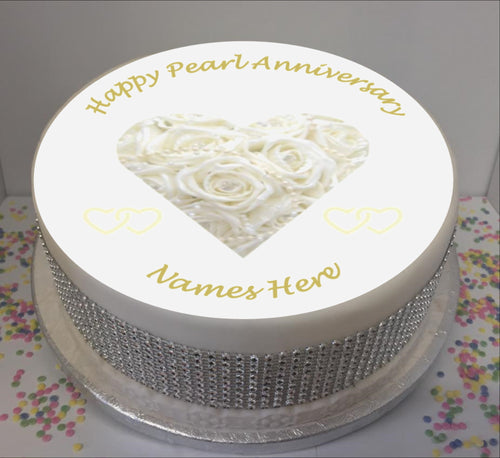 Personalised Pearl Wedding Anniversary 8