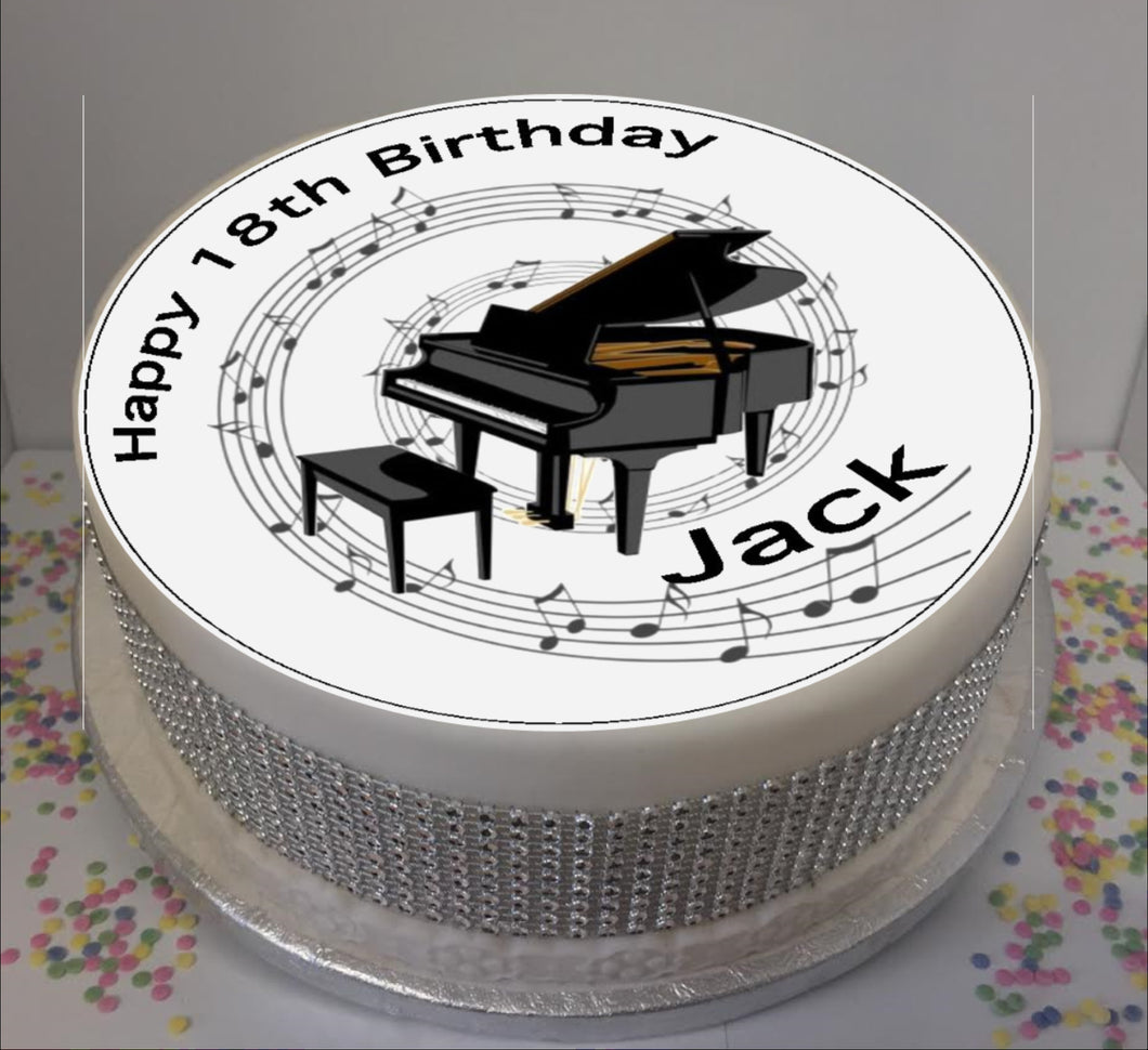 Personalised Piano & Music Notes Scene 8