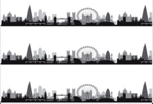 Load image into Gallery viewer, London Skyline Edible Icing Cake Ribbon / Side Strips