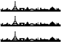 Load image into Gallery viewer, Paris Skyline Edible Icing Cake Ribbon / Side Strips