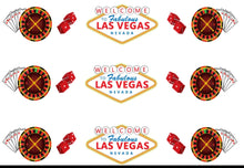 Load image into Gallery viewer, Vegas Casino Edible Icing Cake Ribbon / Side Strips