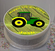"Load image into Gallery viewer, Personalised Tractor Scene 8"" Icing Sheet Cake Topper"