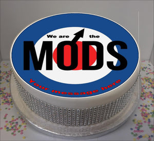 "Personalised We Are The Mods 8"" Icing Sheet Cake Topper"