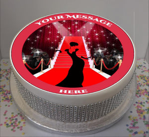 "Personalised Red Carpet Event (A) Scene 8"" Icing Sheet Cake Topper"
