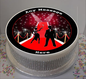 "Personalised Red Carpet Event (C) Scene 8"" Icing Sheet Cake Topper"