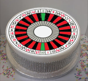 "Roulette Wheel  8"" Icing Sheet Cake Topper"