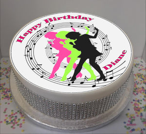 "Personalised Singer Silhouettes Scene 8"" Icing Sheet Cake Topper"