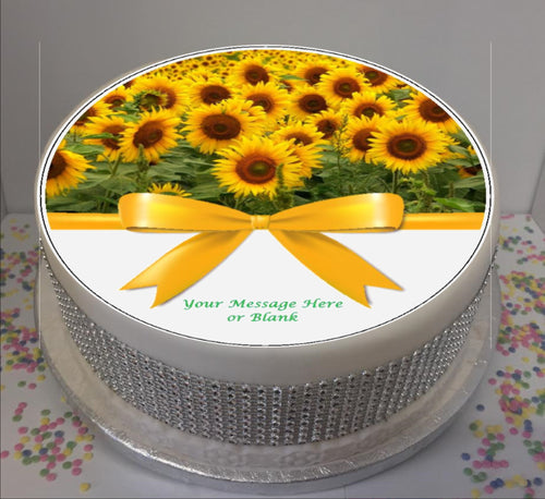 Personalised Sunflowers & Bow Scene 8