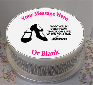 "Personalised Tap Shoes & Quote Scene 8"" Icing Sheet Cake Topper"