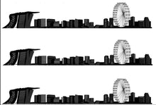 Load image into Gallery viewer, Singapore Skyline Edible Icing Cake Ribbon / Side Strips