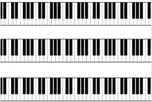Load image into Gallery viewer, Piano Keys Edible Icing Cake Ribbon / Side Strips