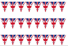 Load image into Gallery viewer, Union Jack Bunting Edible Icing Cake Ribbon / Side Strips