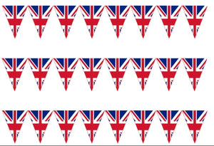 Union Jack Bunting Edible Icing Cake Ribbon / Side Strips