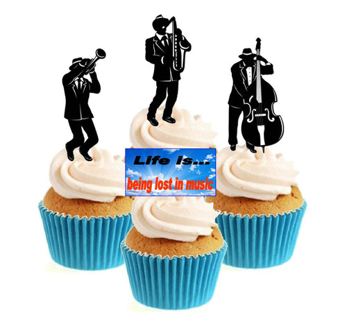 Jazz / Soul Collection Stand Up Cake Toppers (12 pack)