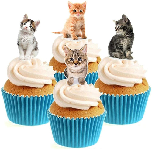 Kitten Collection Stand Up Cake Toppers (12 pack)