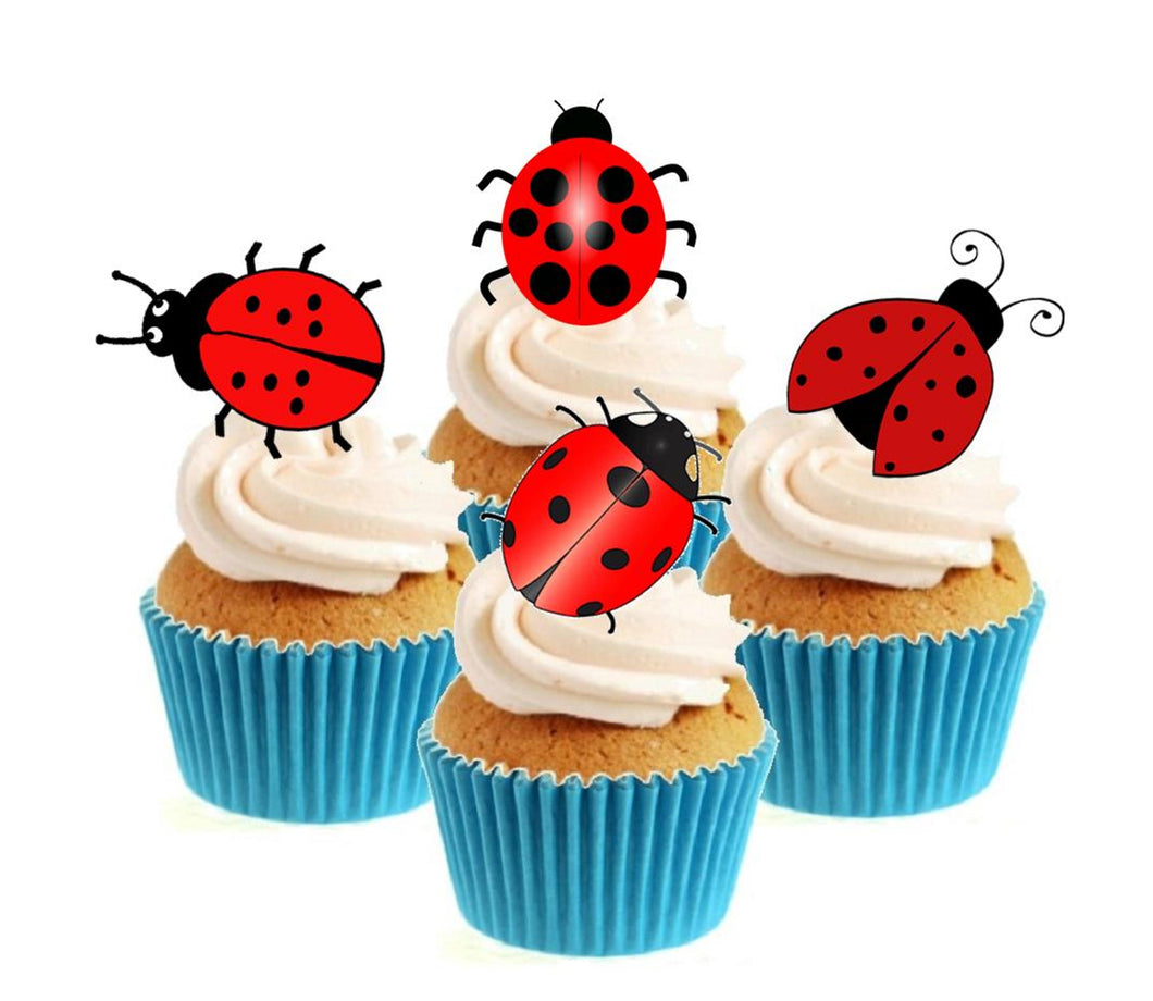 Ladybird / Ladybug Collection Stand Up Cake Toppers (12 pack)