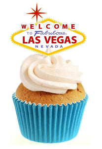 Welcome to Vegas Stand Up Cake Toppers (12 pack)