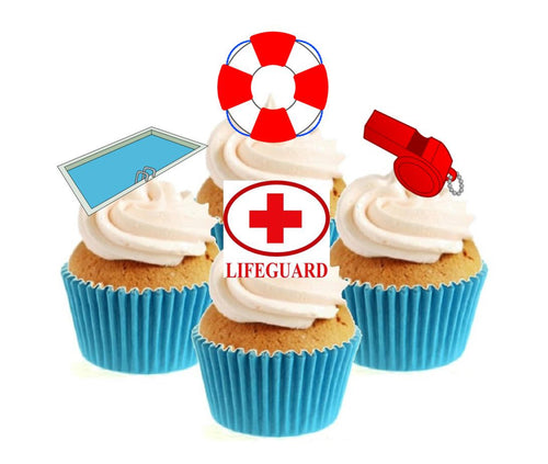 Lifeguard Collection Stand Up Cake Toppers (12 pack)