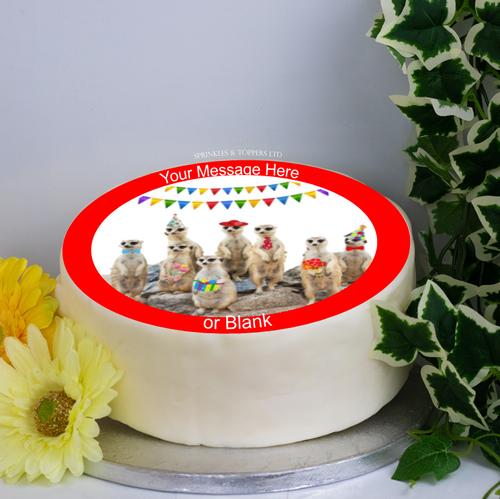Personalised Meerkats Party Scene 8