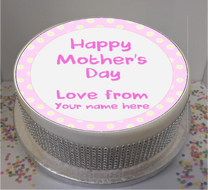"Personalised Mother's Day Daisies 8"" Icing Sheet Cake Topper"