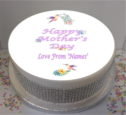 Personalised Mother's Day Hummingbirds & Flowers 8