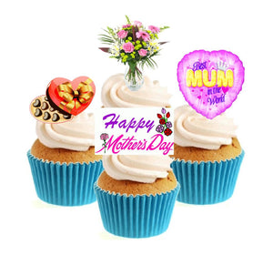 Mother's Day Collection Stand Up Cake Toppers (12 pack)