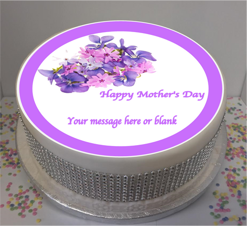 Personalised Mother's Day Purple Flowers 8
