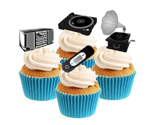 Music Through The Ages Collection Stand Up Cake Toppers (12 pack)