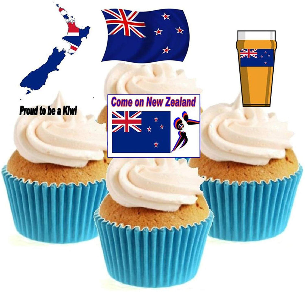 New Zealand Rugby Collection Stand Up Cake Toppers (12 pack)