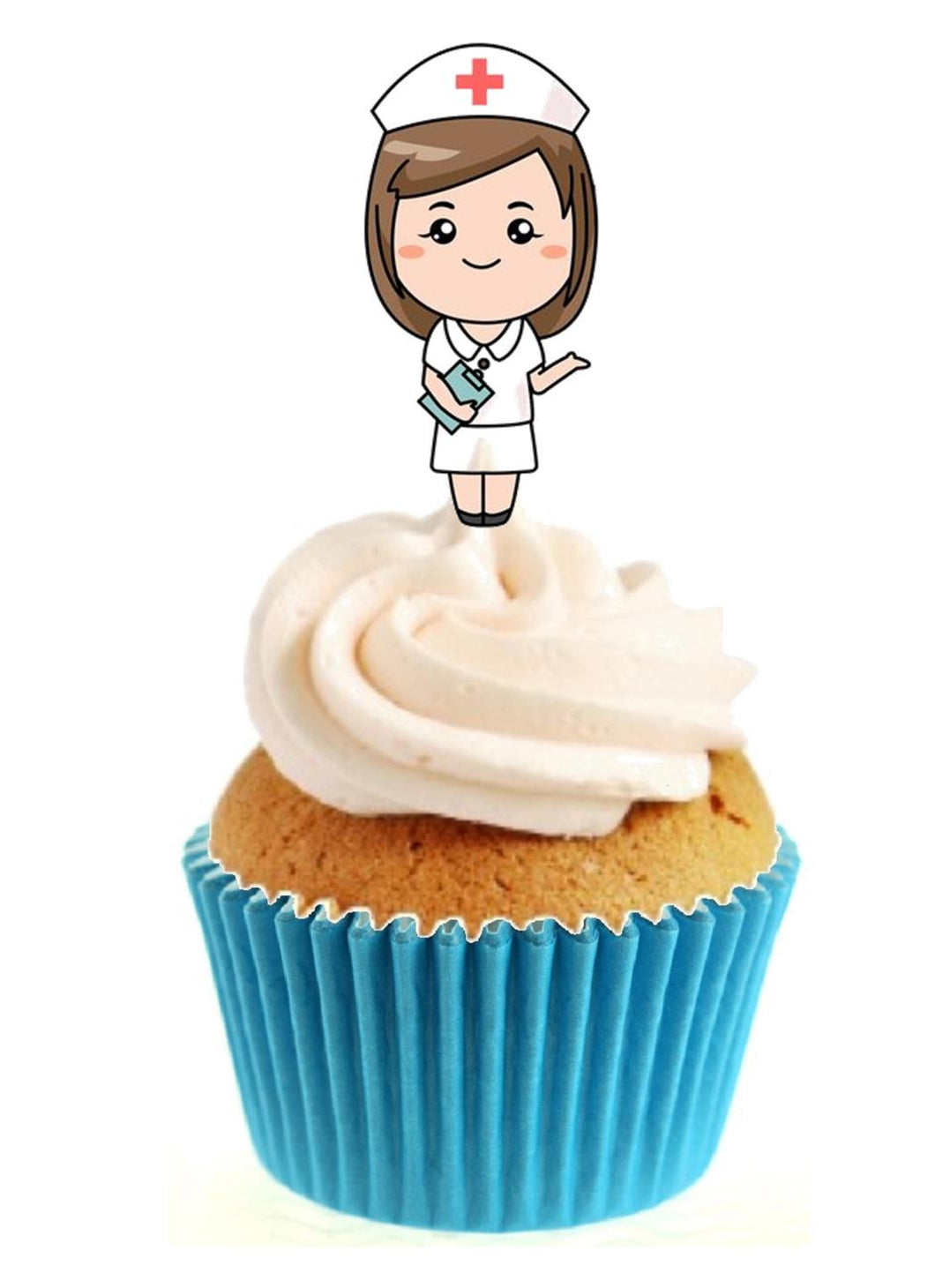 Nurse Stand Up Cake Toppers (12 pack)