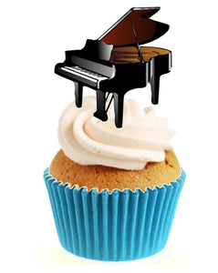 Piano Stand Up Cake Toppers (12 pack)