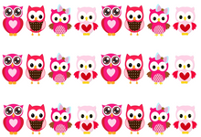 Load image into Gallery viewer, Pink Owls Edible Icing Cake Ribbon / Side Strips