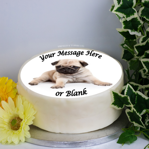 Personalised Fawn Pug (Lying) 8