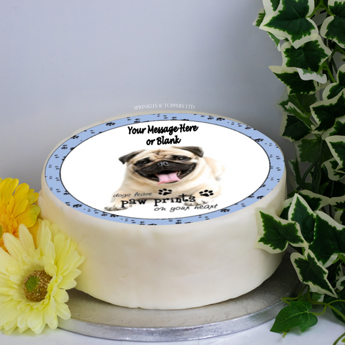 Personalised Laughing Pug with Quote Scene 8