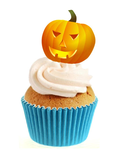 Pumpkin Stand Up Cake Toppers (12 pack)