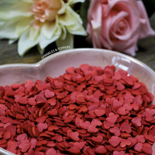 Red Glimmer Hearts (100g)