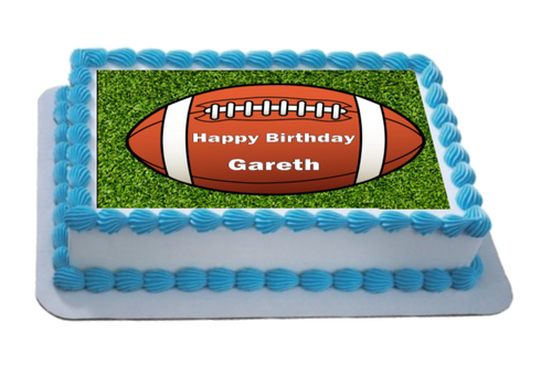 Personalised Rugby Ball A4 Icing Sheet Topper