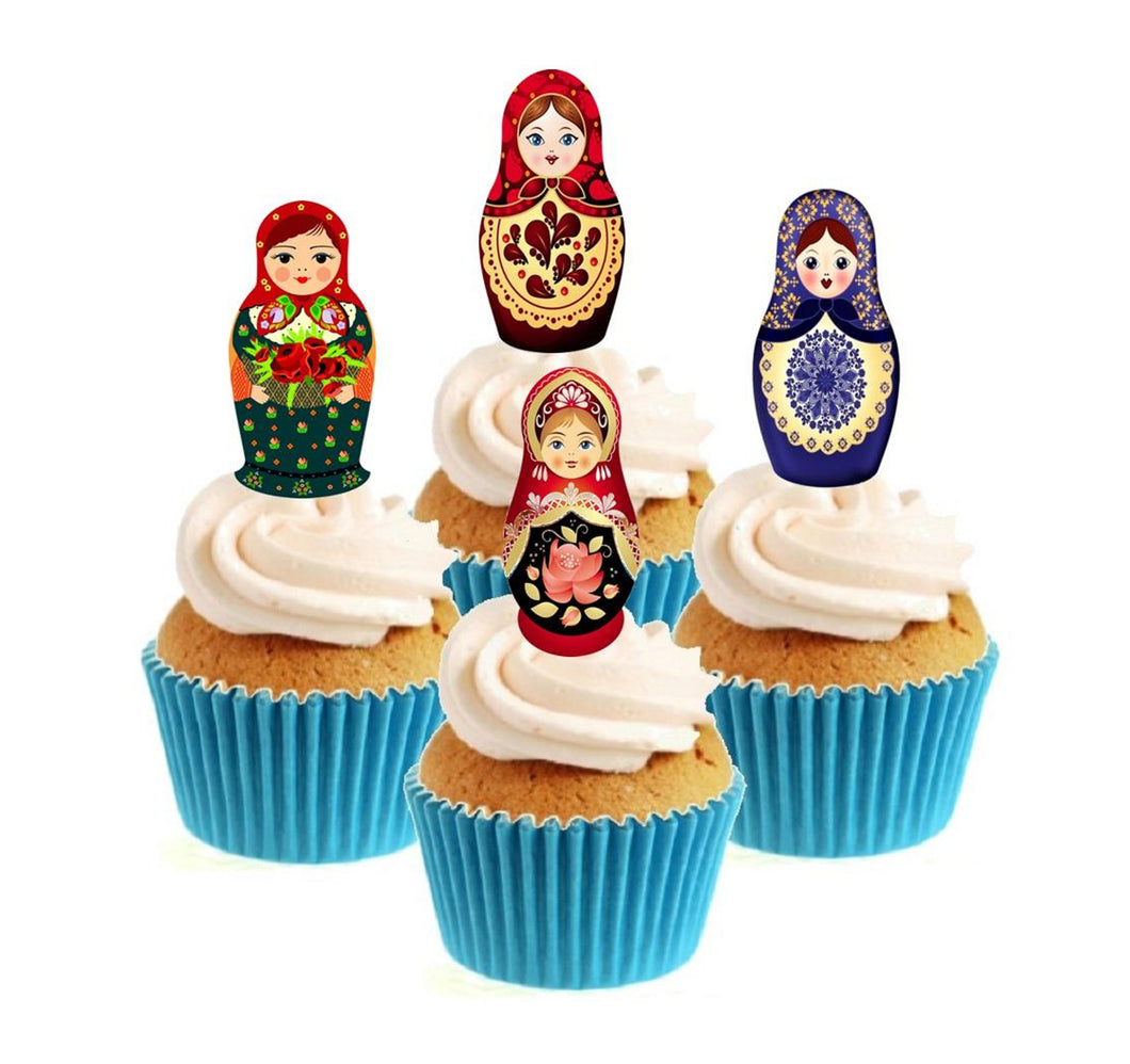 Russian Doll Collection Stand Up Cake Toppers (12 pack)