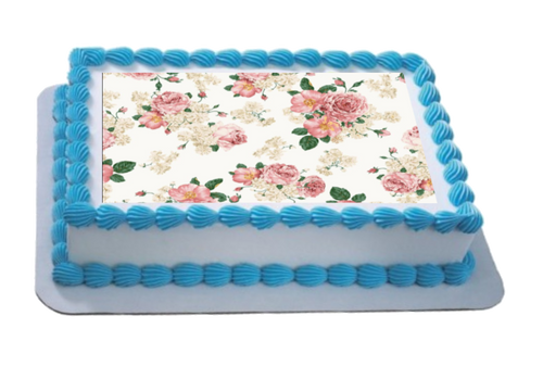 Shabby Chic Floral A4 Themed Icing Sheet