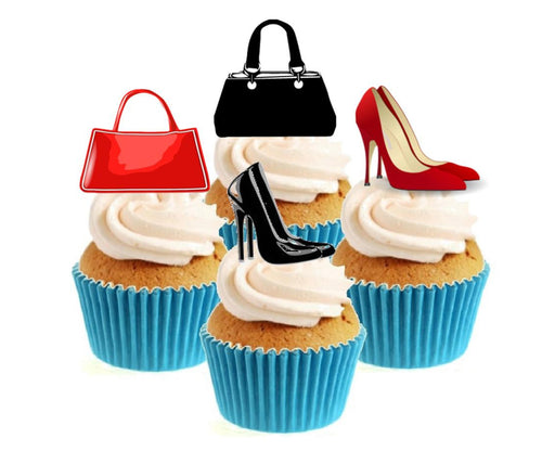 Shoes & Handbags Collection Stand Up Cake Toppers (12 pack)
