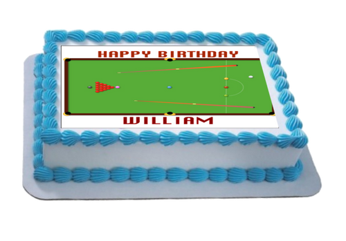 Personalised Snooker Table A4 Icing Sheet Topper