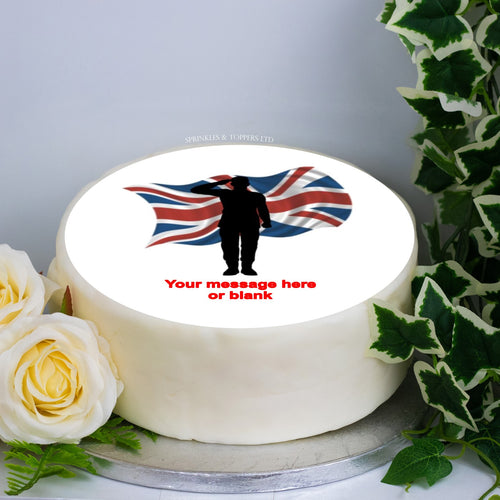 Personalised Soldier Silhouette & Flag Scene 8