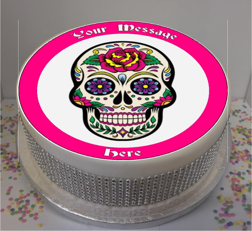Personalised Pink Sugar Skull 8