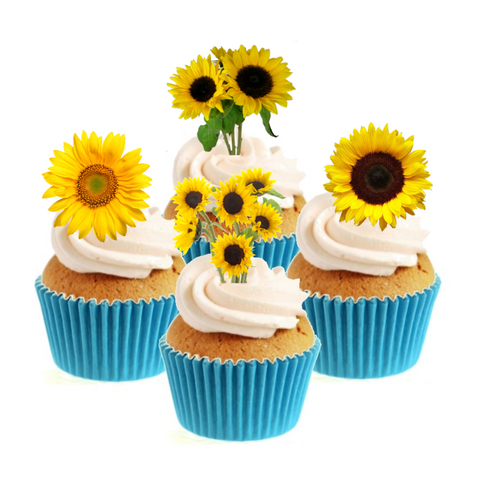 Sunflower Collection Stand Up Cake Toppers (12 pack)