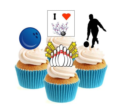 Ten Pin Bowling Collection Stand Up Cake Toppers (12 pack)